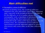 main difficulties met17