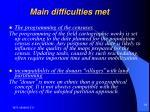 main difficulties met18