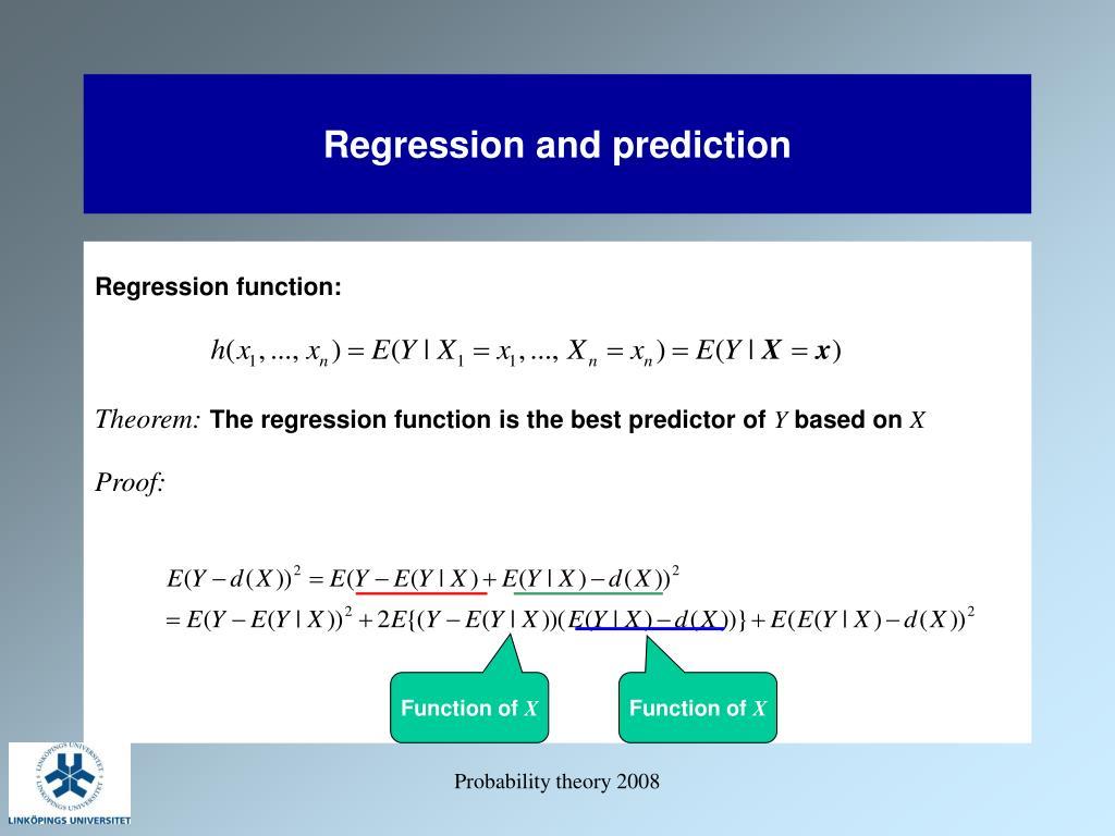 Regression and prediction