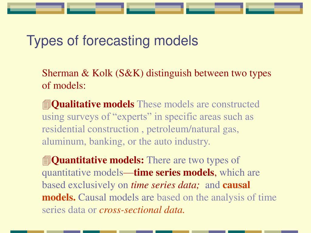 Types of forecasting models