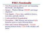 wml s functionality