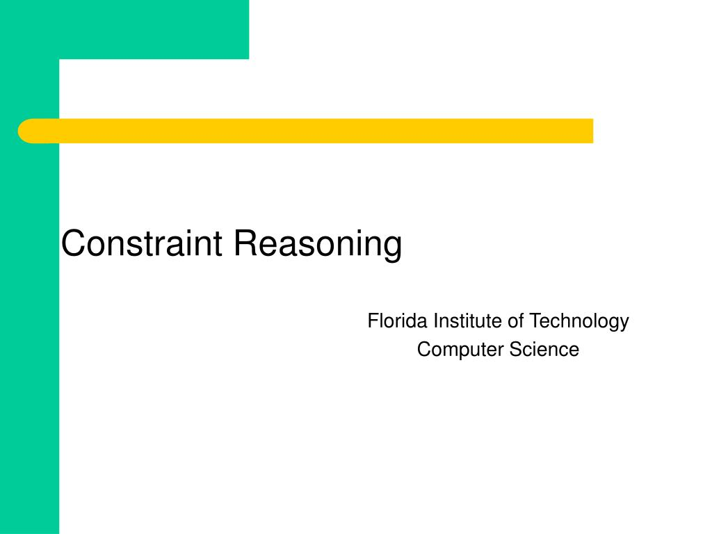 Constraint Reasoning