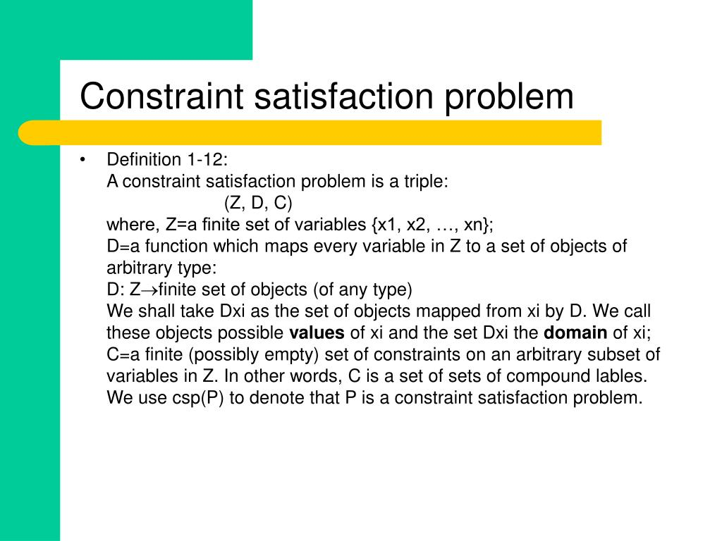 Constraint satisfaction problem