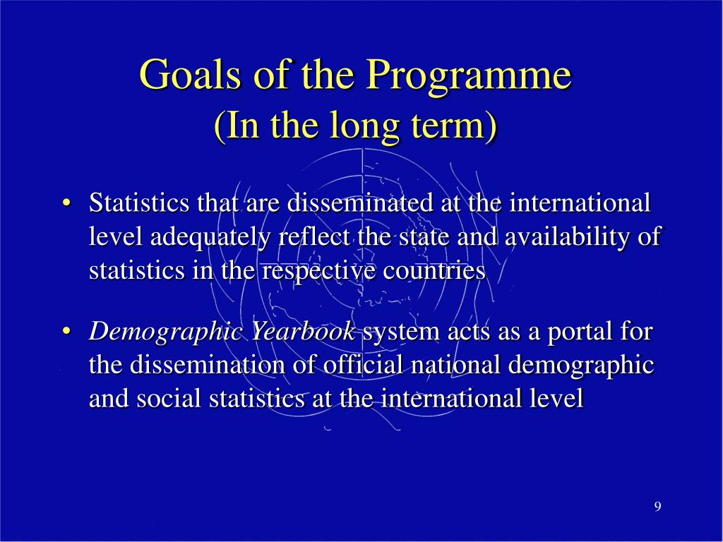 Goals of the Programme