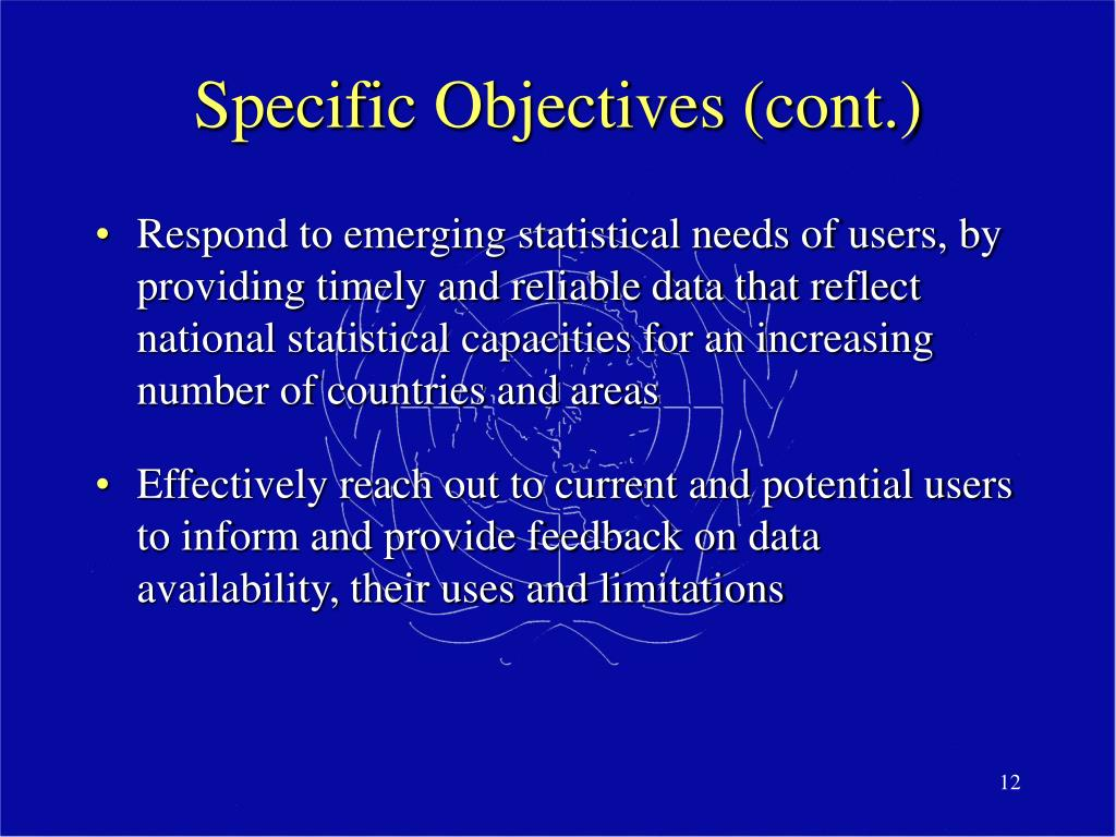 Specific Objectives (cont.)