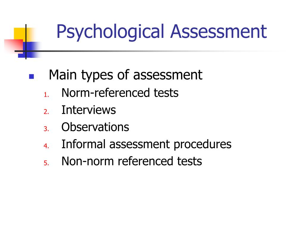 PPT - Introduction to Psychological Assessment of Children