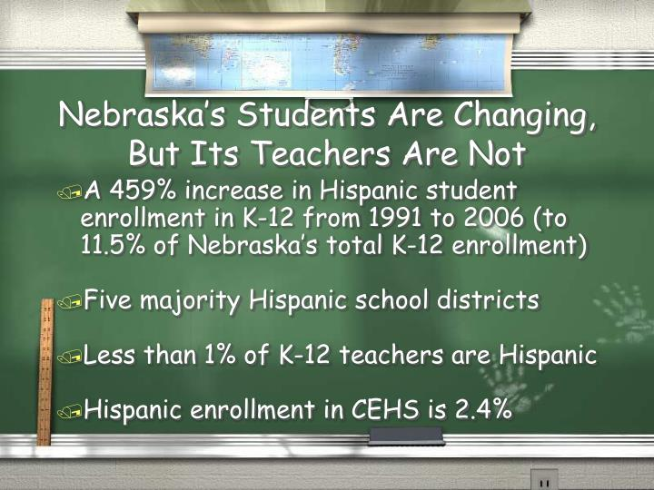 Nebraska s students are changing but its teachers are not