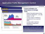 application traffic management control