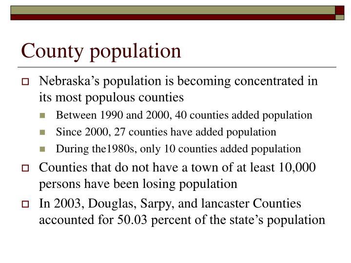 County population