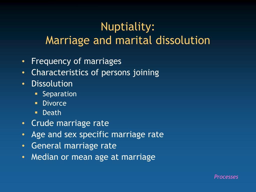 Nuptiality: