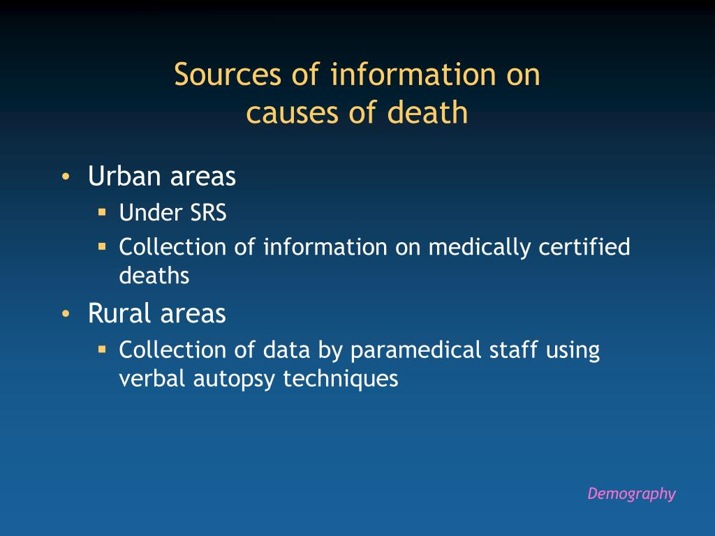 Sources of information on