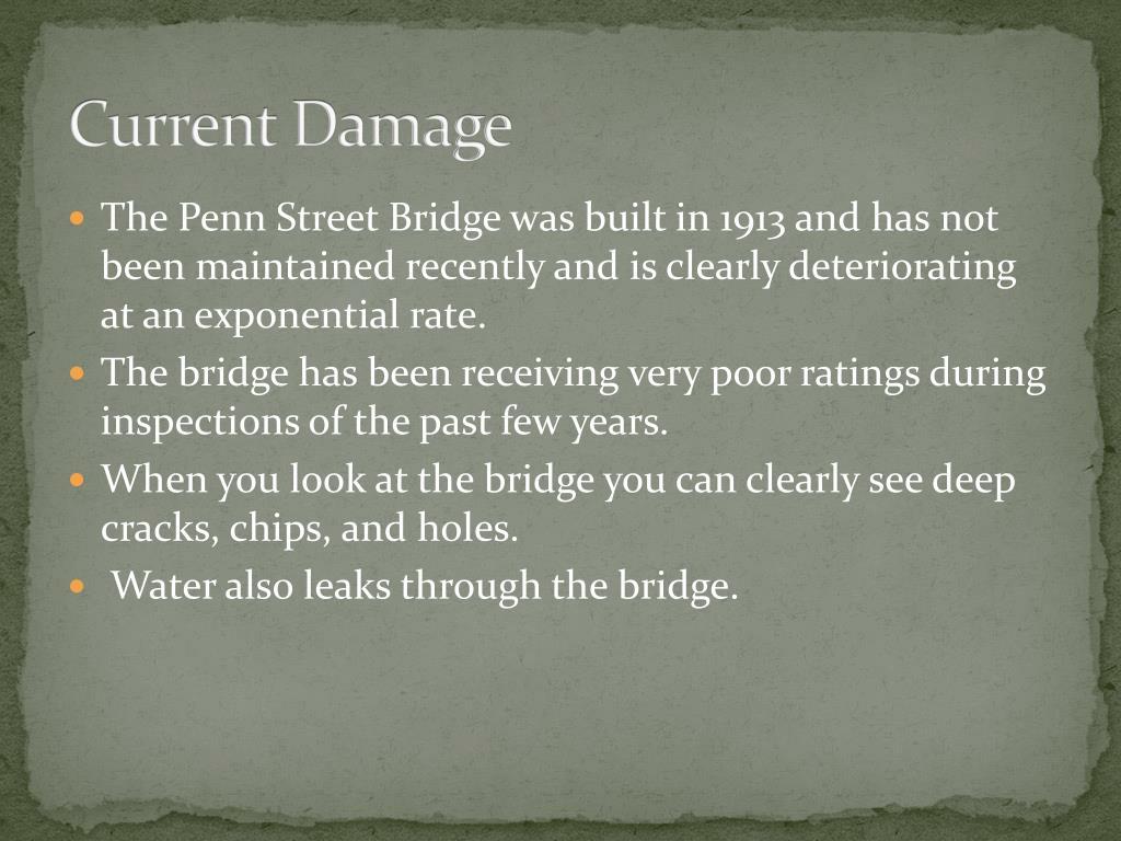 Current Damage
