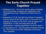 the early church prayed together2