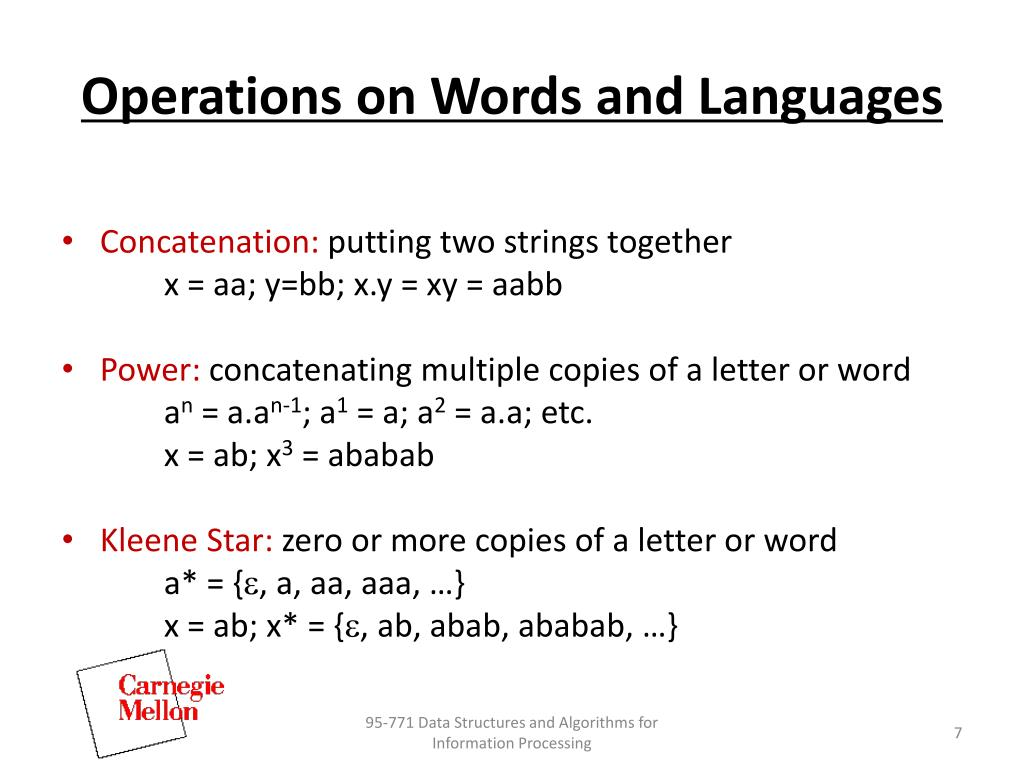 Operations on Words and Languages