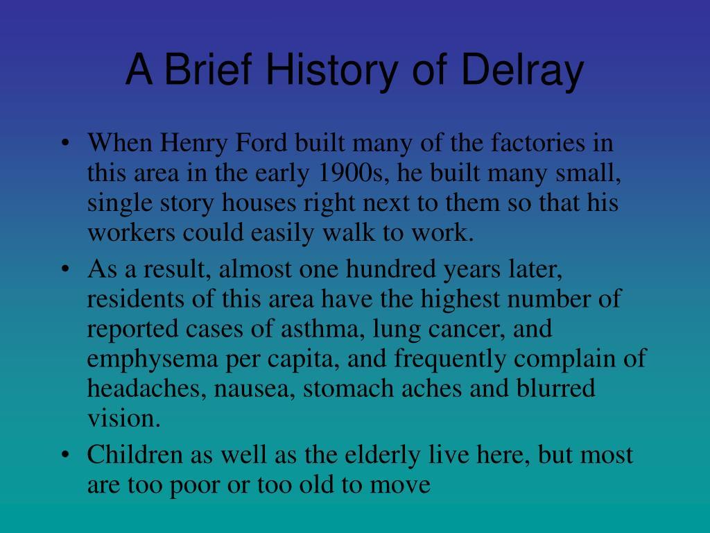A Brief History of Delray