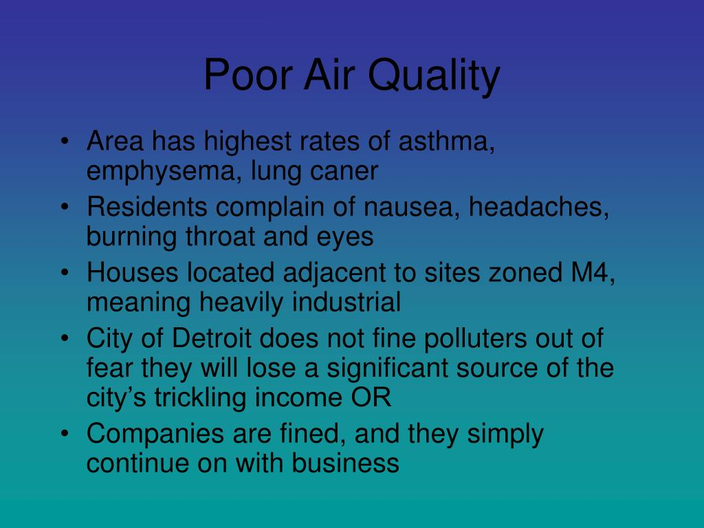 Poor Air Quality