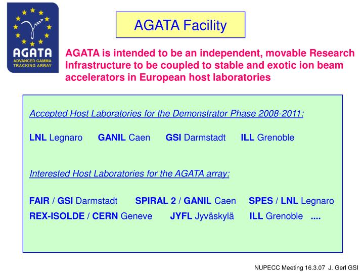 AGATA Facility