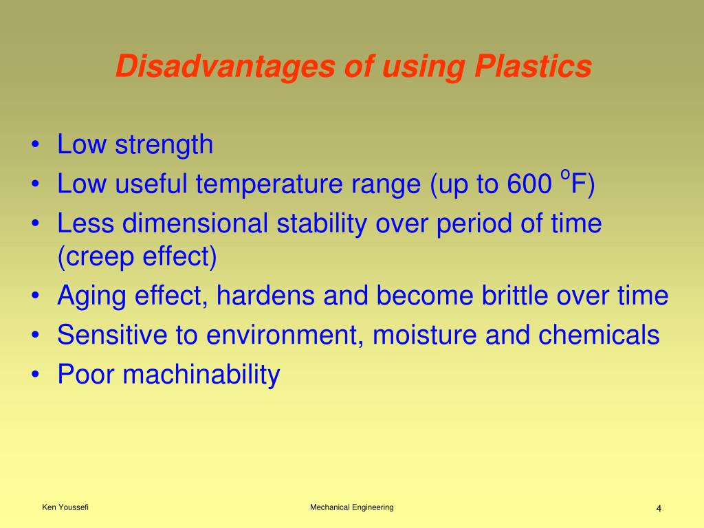 Disadvantages of using Plastics