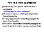 how to identify aggregation