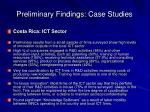 preliminary findings case studies1