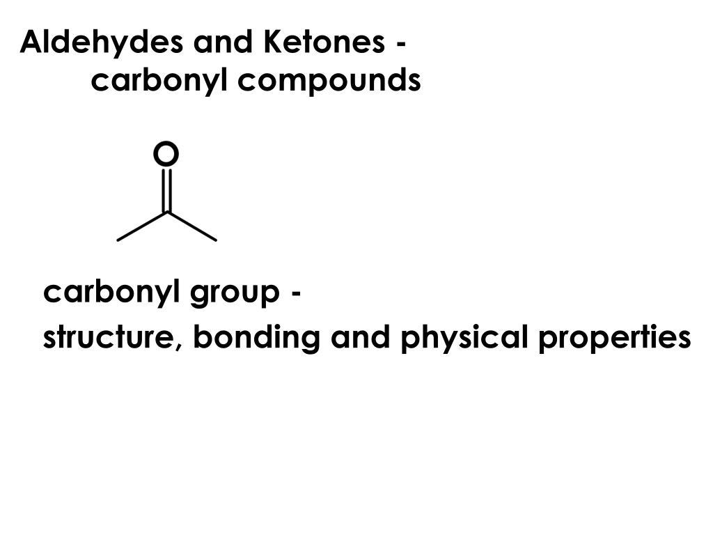 aldehydes and ketones carbonyl compounds l.