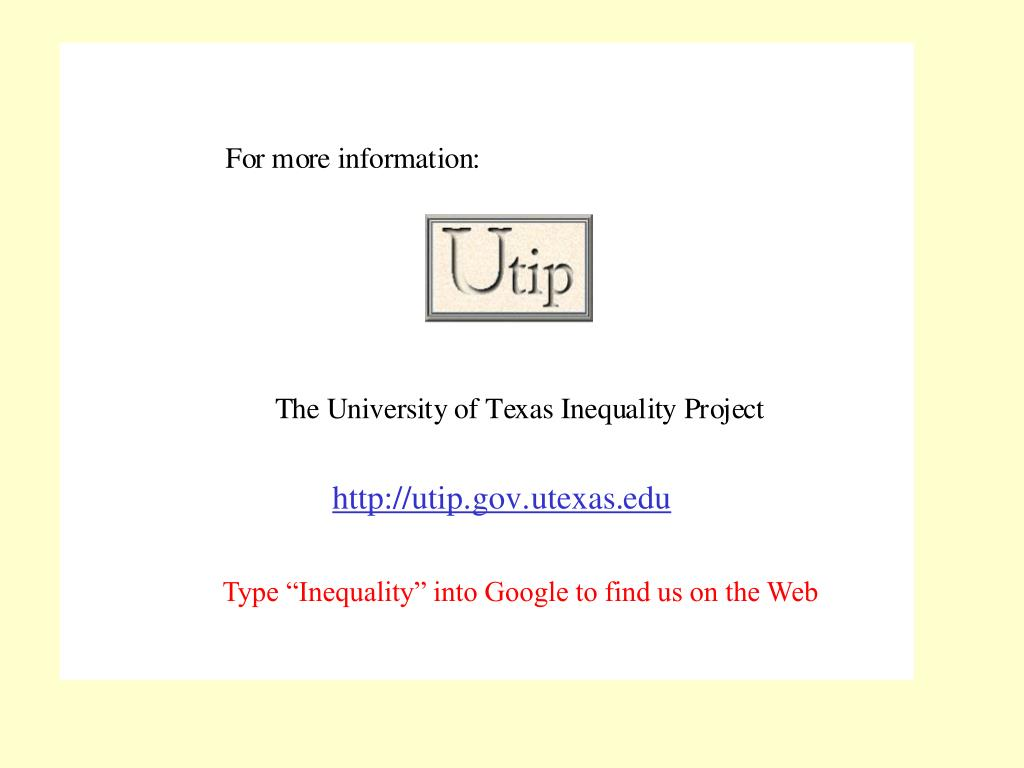 """Type """"Inequality"""" into Google to find us on the Web"""