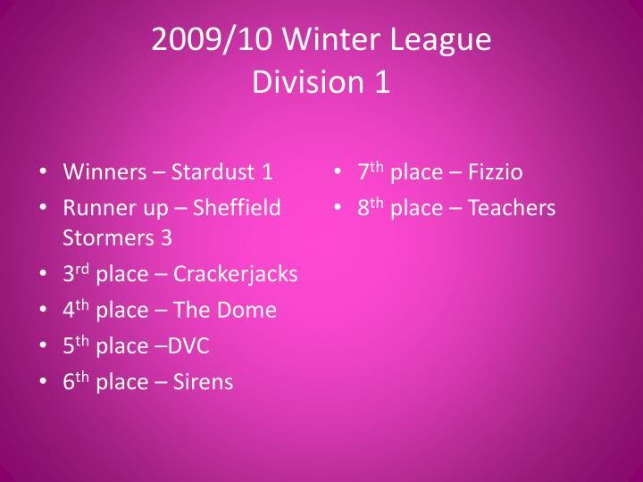 2009 10 winter league division 1