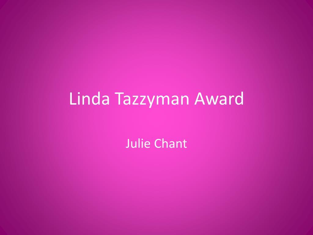 Linda Tazzyman Award