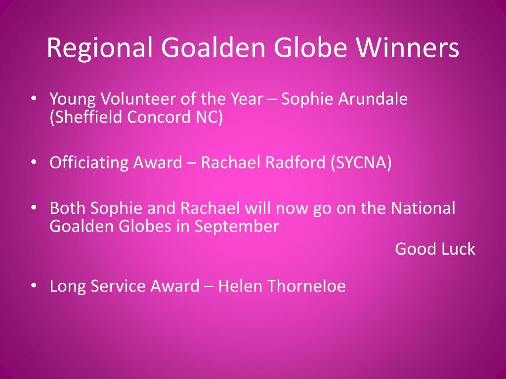Regional Goalden Globe Winners