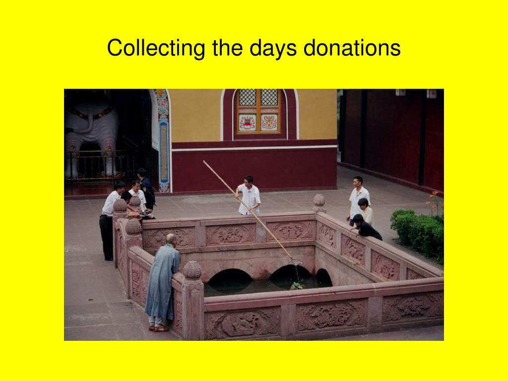 Collecting the days donations