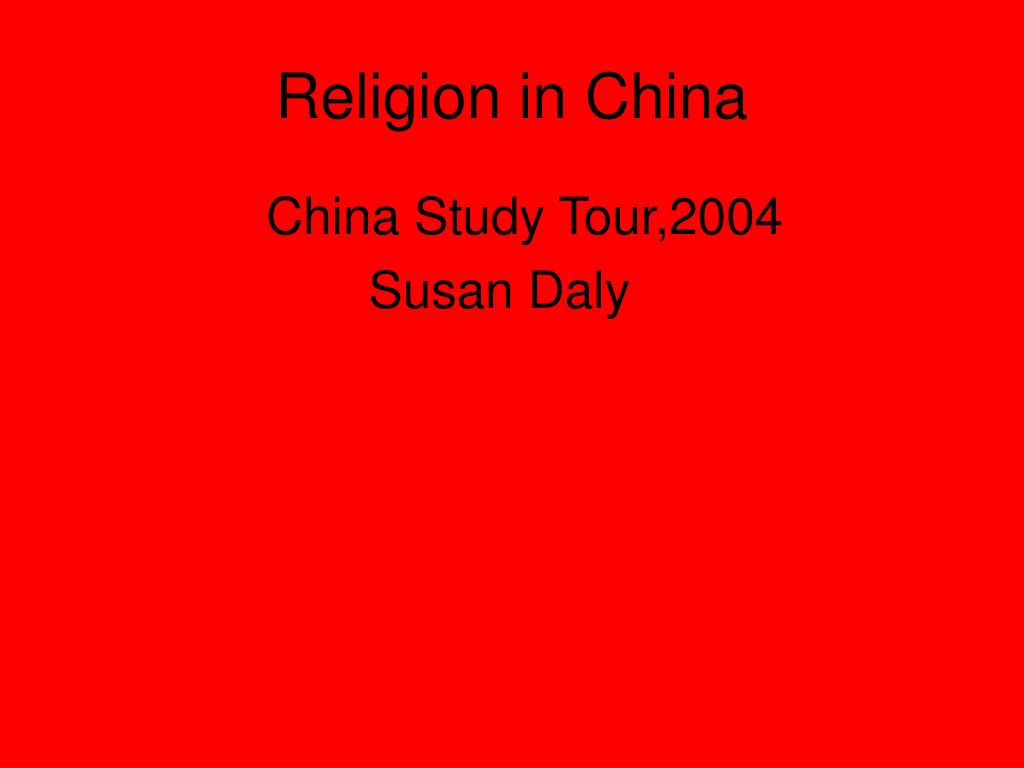religion in china l.