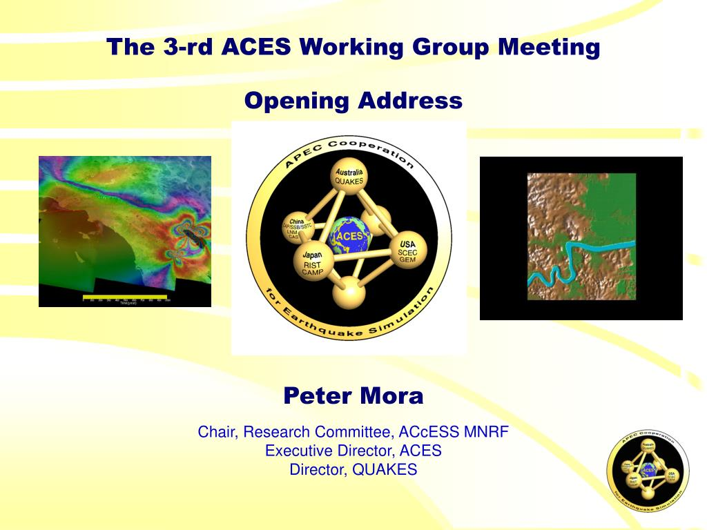 The 3-rd ACES Working Group Meeting