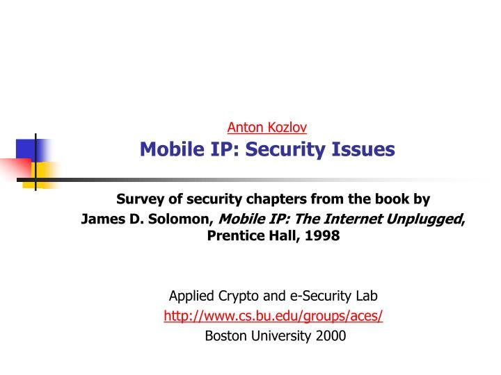 anton kozlov mobile ip security issues n.