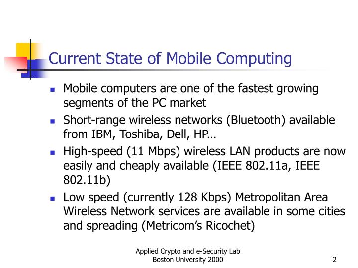Current state of mobile computing