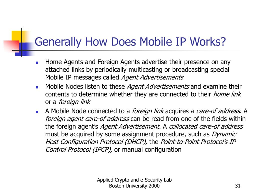Generally How Does Mobile IP Works?