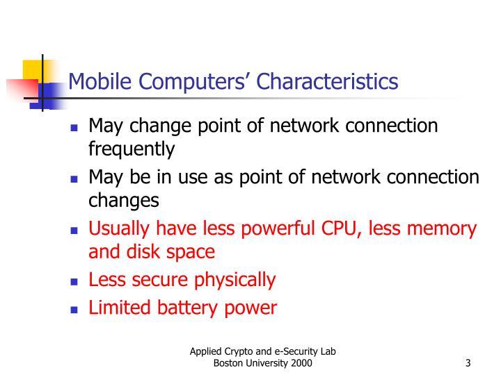 Mobile computers characteristics