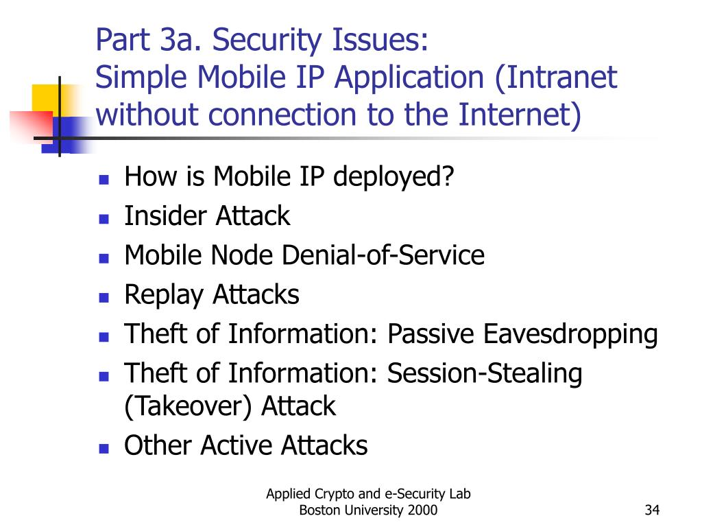 Part 3a. Security Issues: