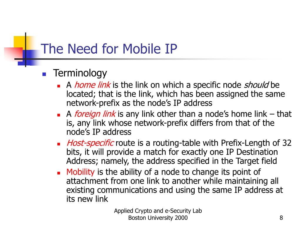 The Need for Mobile IP