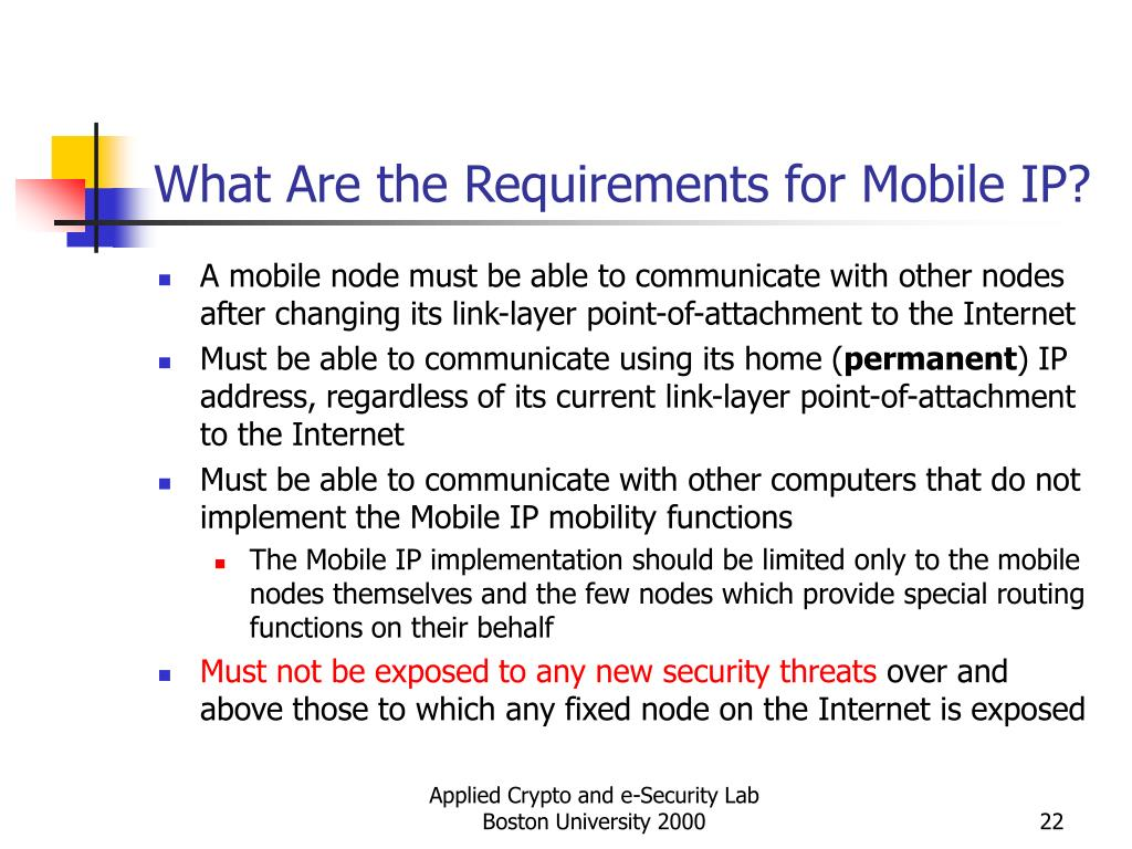 What Are the Requirements for Mobile IP?
