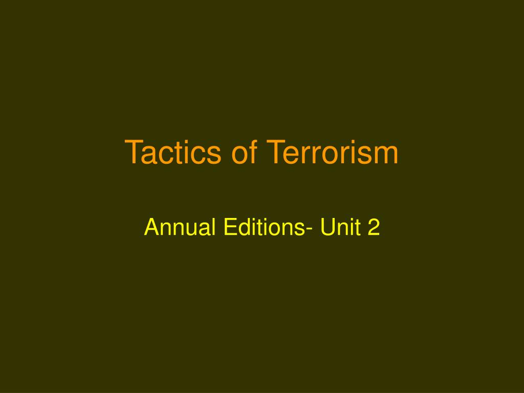 tactics of terrorism l.