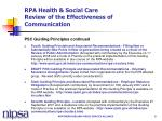 rpa health social care review of the effectiveness of communication8