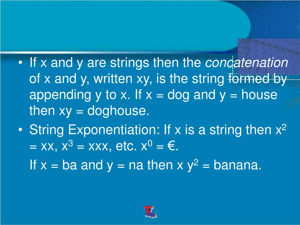 If x and y are strings then the