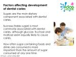 factors affecting development of dental caries14