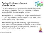 factors affecting development of dental caries15