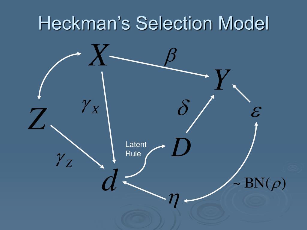 Heckman's Selection Model