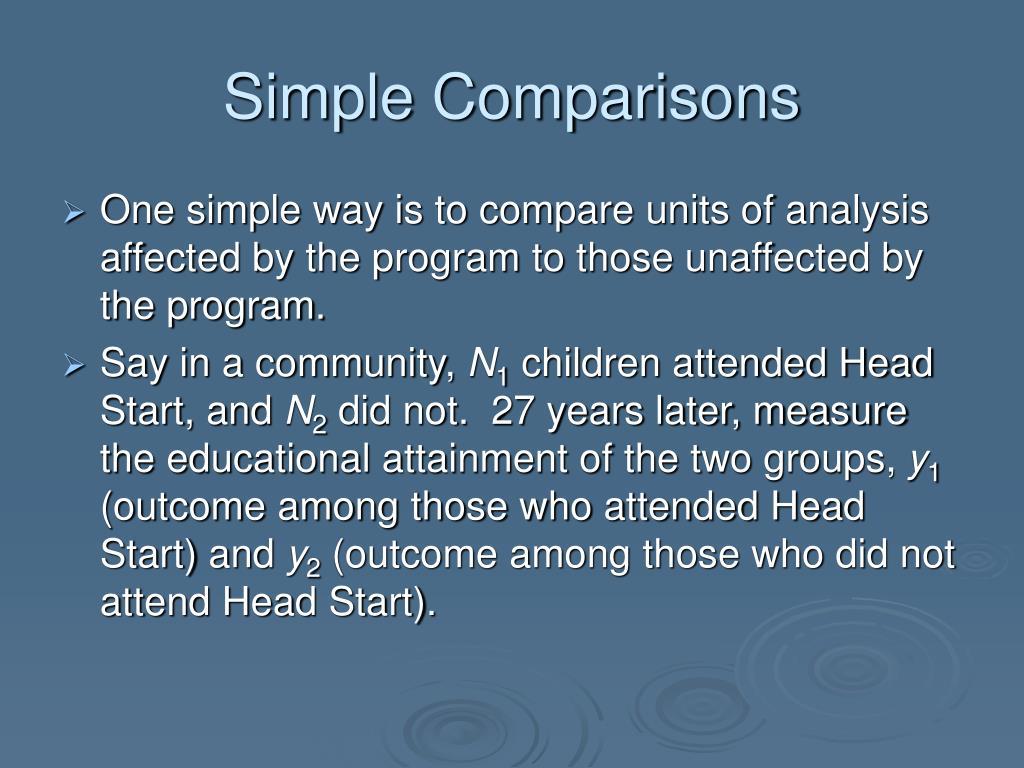 Simple Comparisons