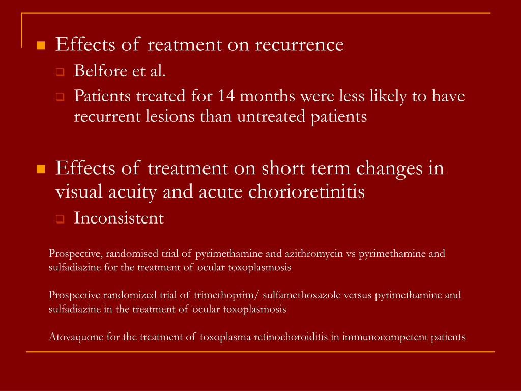 Effects of reatment on recurrence