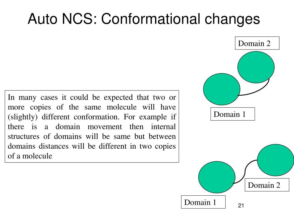 Auto NCS: Conformational changes