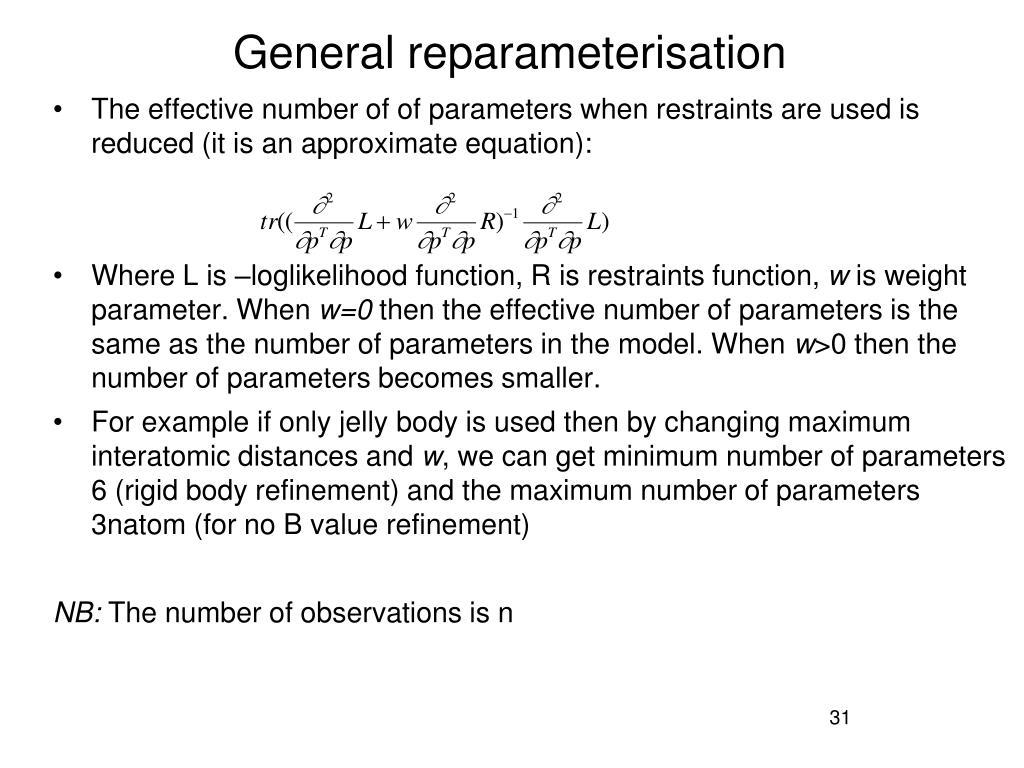 General reparameterisation
