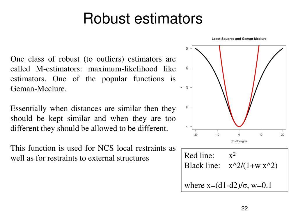 Robust estimators